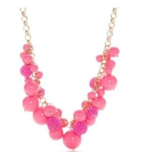 Crown & Ivy Pink chunky frontal Necklace